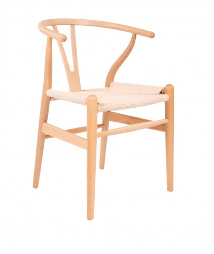 Wegner CH24 style dining chair natural-natural cord