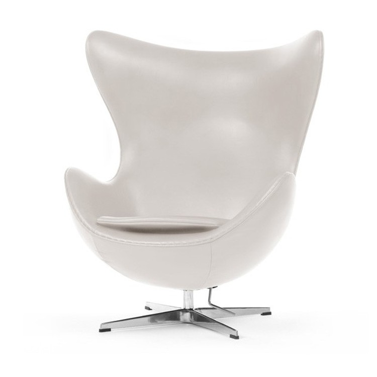 Egg Chair Afmetingen.Arne Jacobsen Lounge Chair Egg Chair Leather Ivory