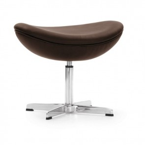 Arne Jacobsen Egg chair footstool leather brown