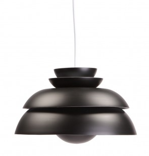 Verner Panton Concert P1 pendant light black
